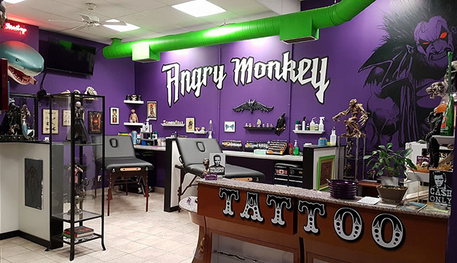 angry-monkey-tattoo-inside-shop